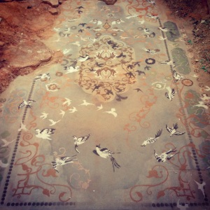 """""""Dust to Dust,"""" installation by Hannah Bertram at Eastern State Penitentiary. Photo by Laura McTighe."""